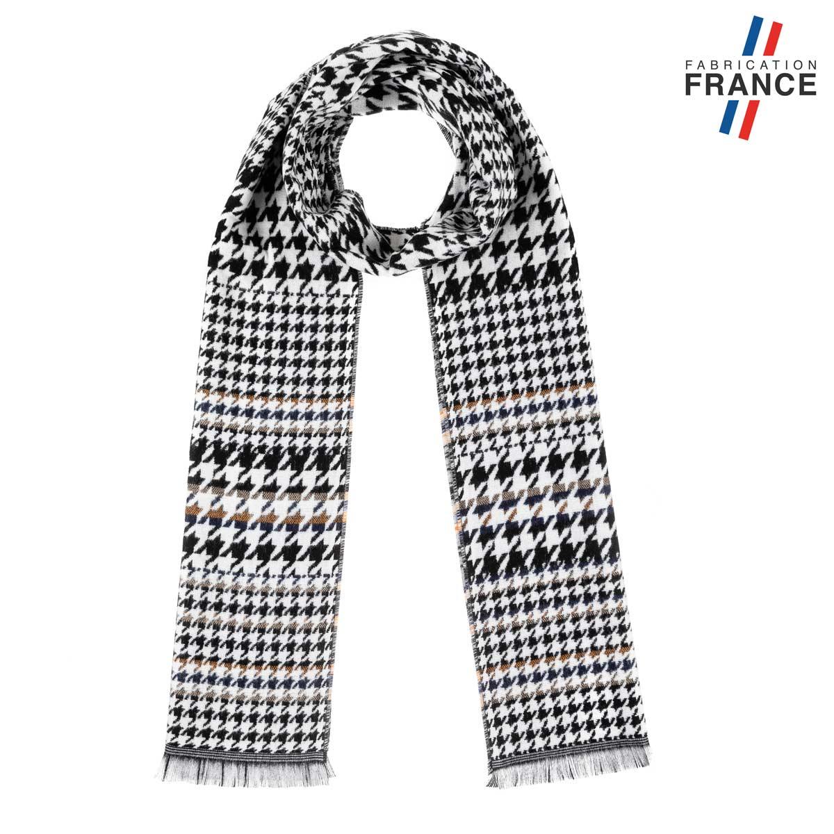 AT-06231_F12-1FR_Echarpe-hiver-pied-poule-noir-blanc