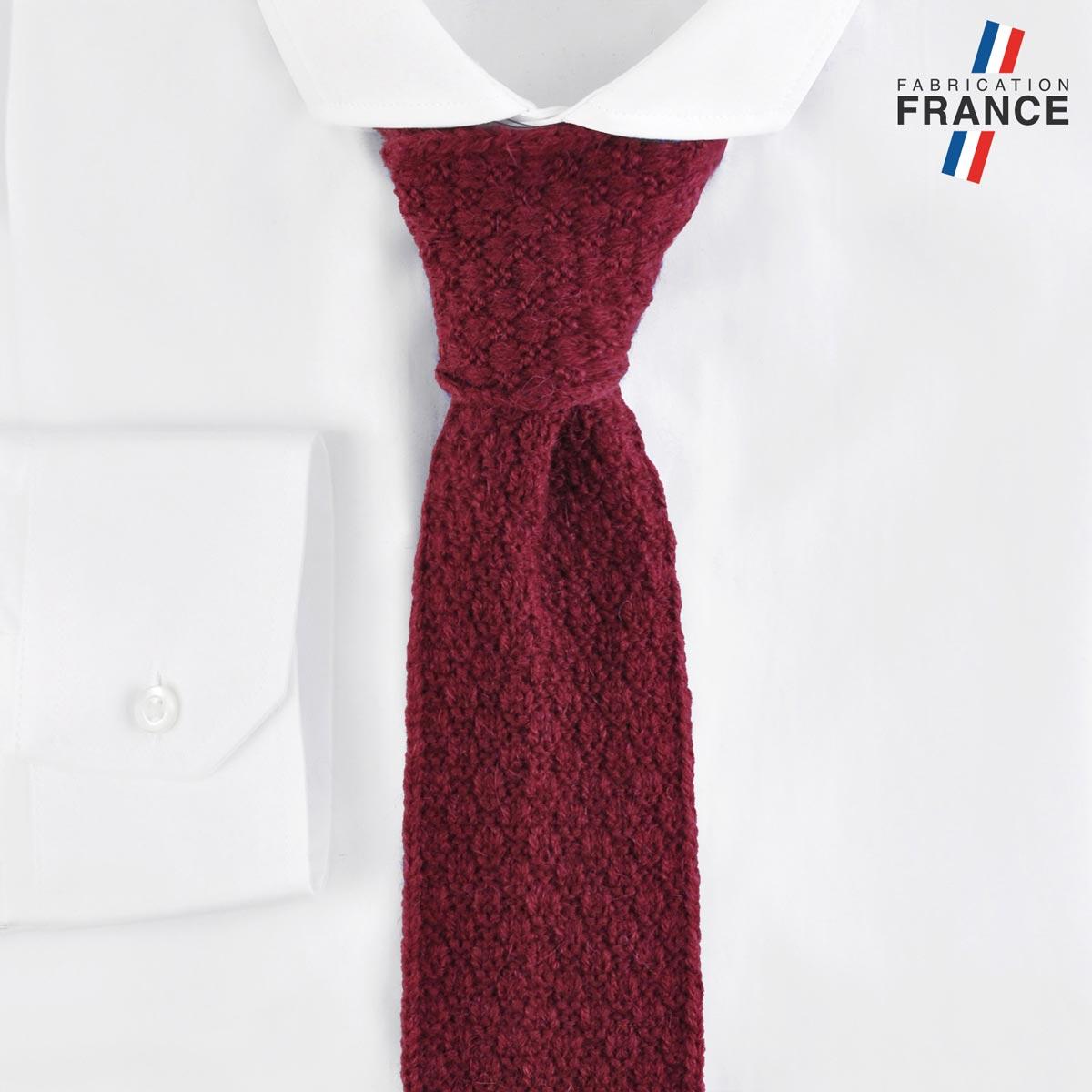 CV-00462_F12-2FR_Cravate-tricot-rouge-bordeaux-fabrication-francaise