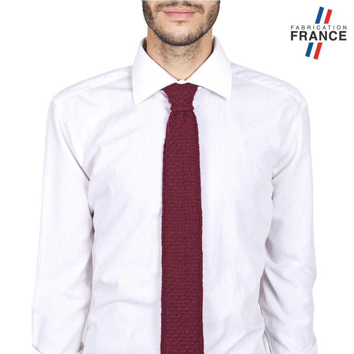CV-00462_M12-1FR_Cravate-alpaga-laine-rouge