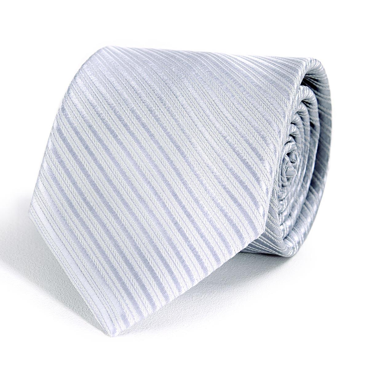 _Cravate-homme-faux-uni-gris-argent