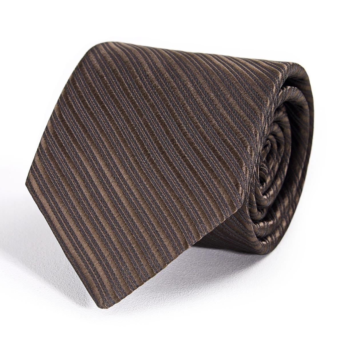 _Cravate-faux-uni-marron