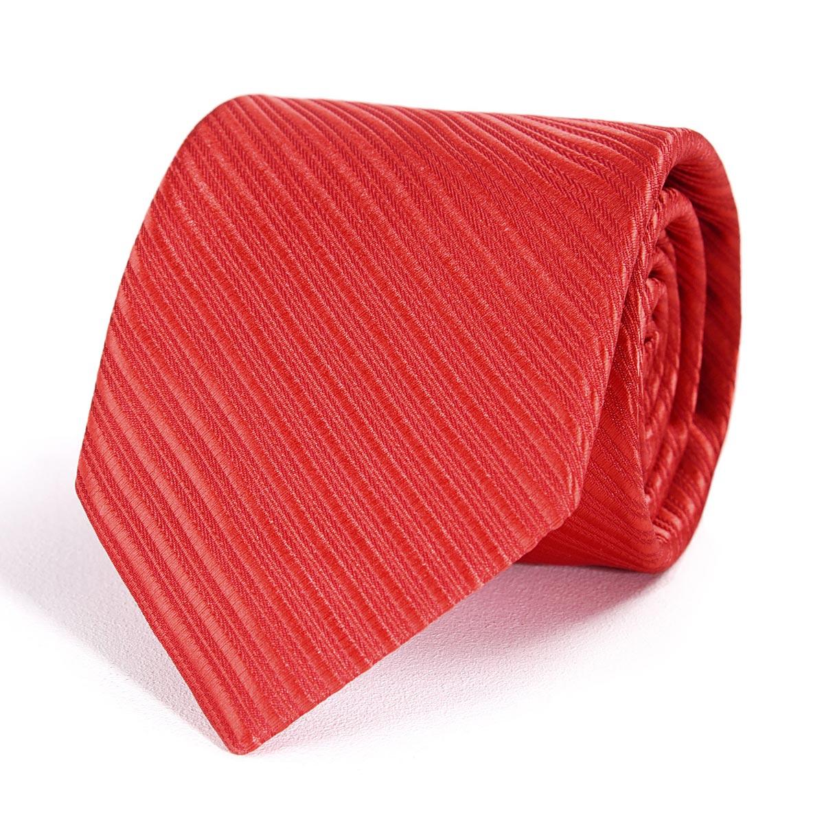 _Cravate-faux-uni-rouge