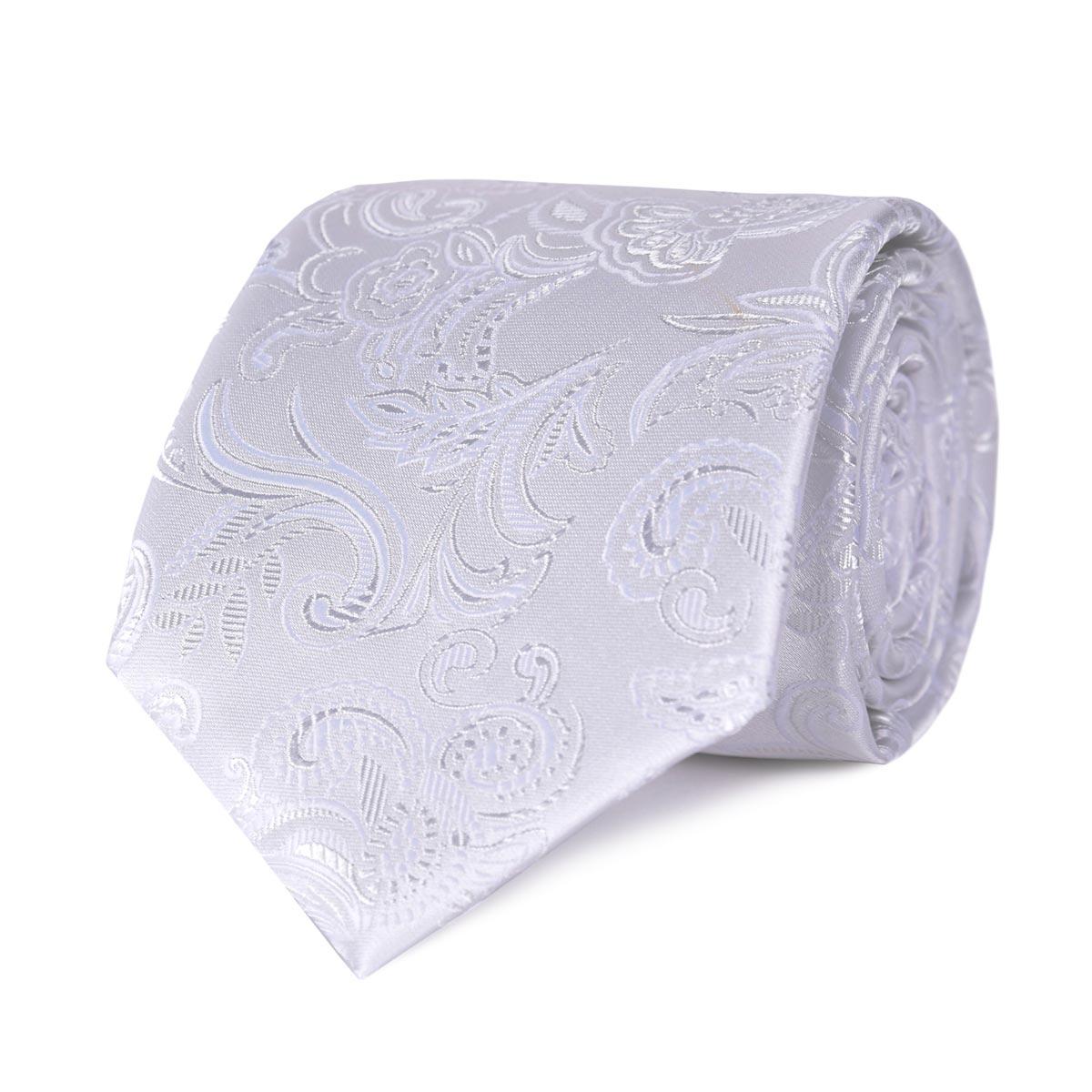 _Cravate-motif-arabesque-gris-argent