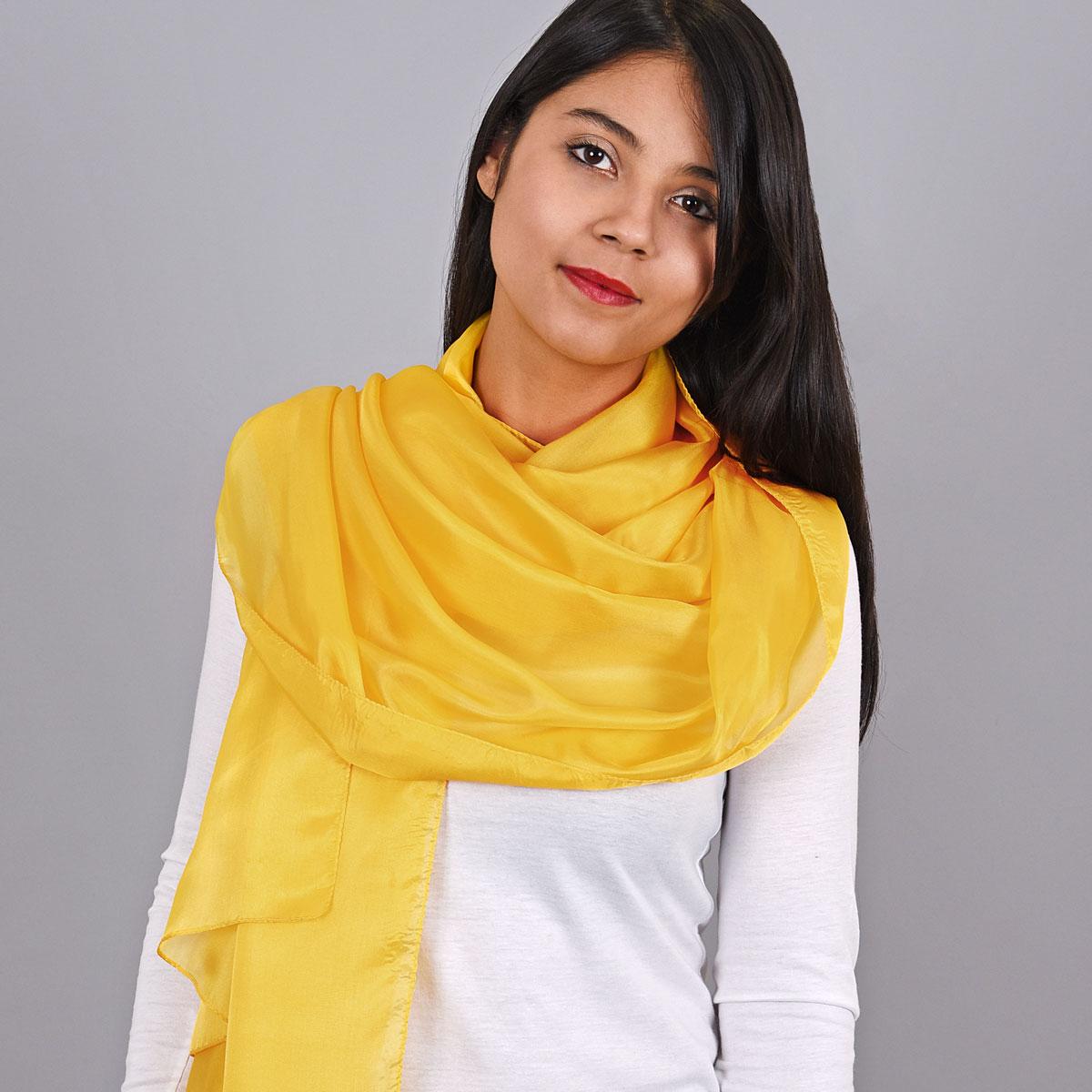 _Etole-soie-femme-jaune