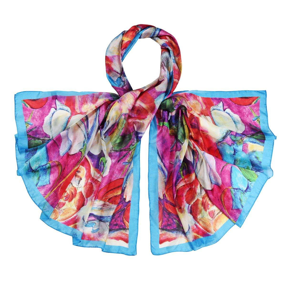 _Etole-soie-fleurs-abstraites-multicolores