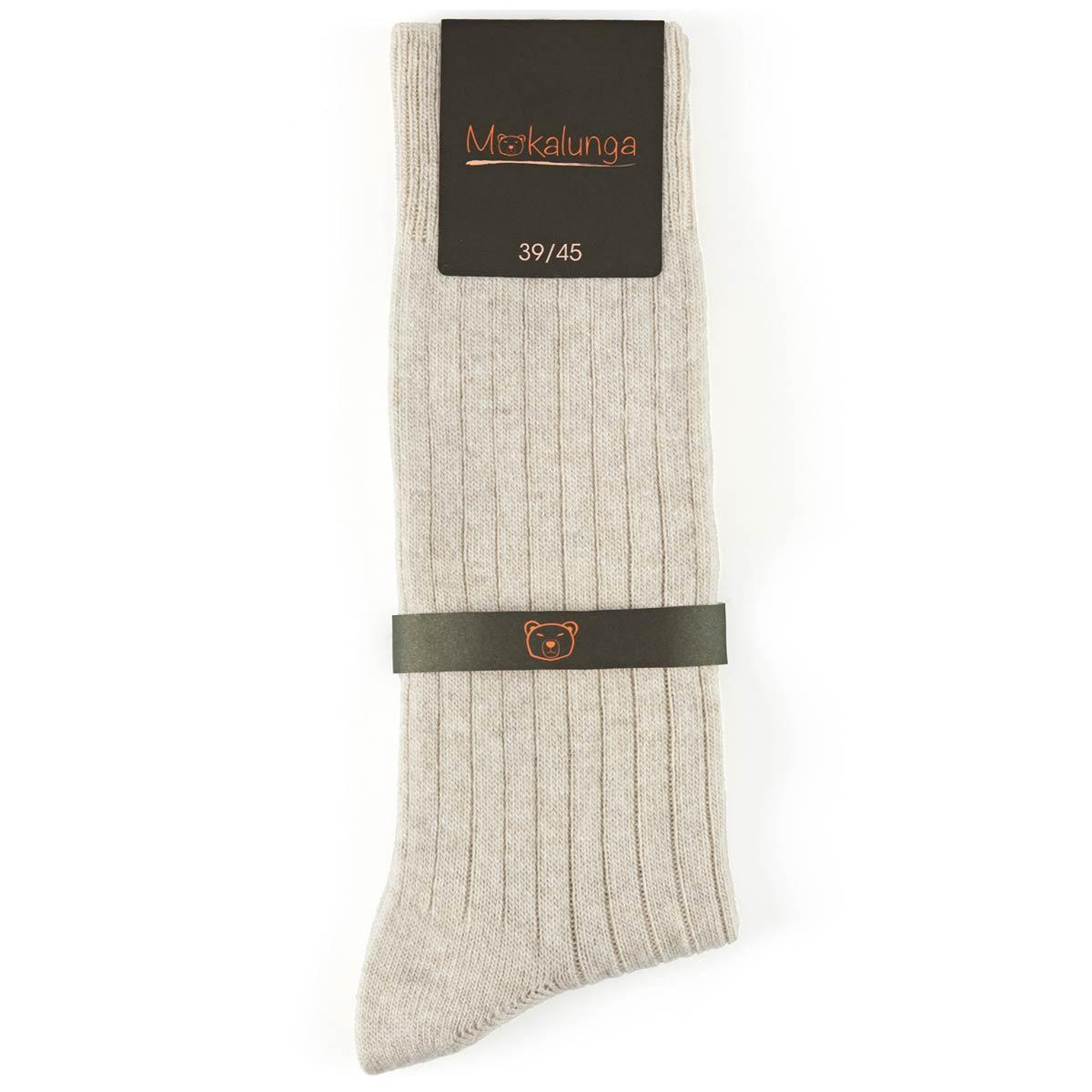 _Chaussettes-homme-laine-cachemire-beige