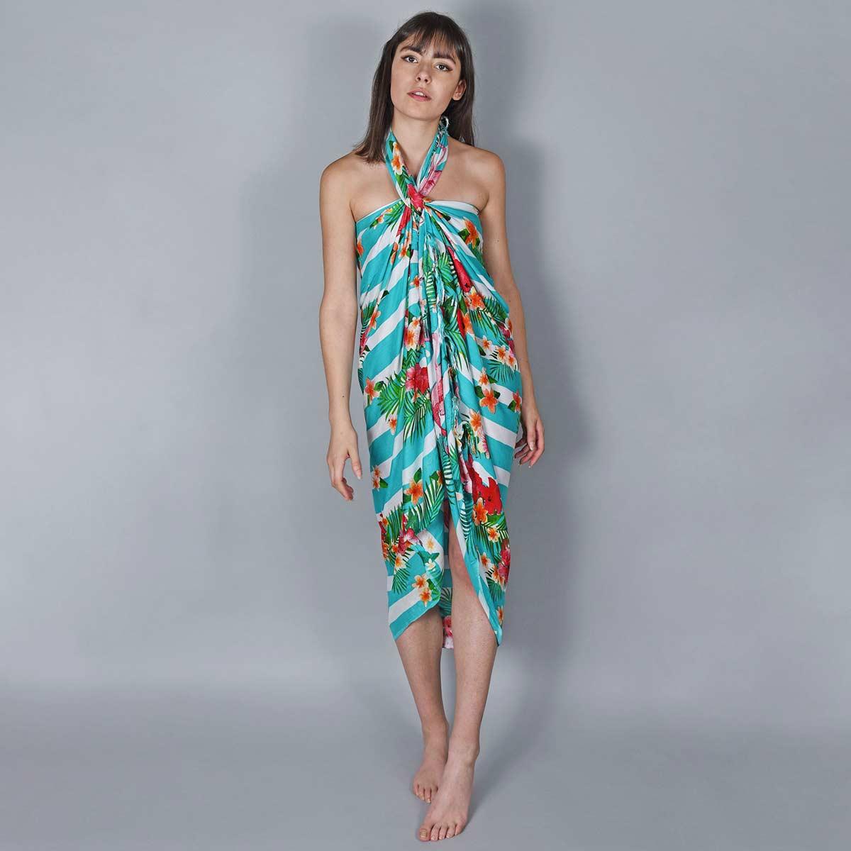 AT-06077_W12-2--_Pareo-femme-rayures-vertes-flamingo