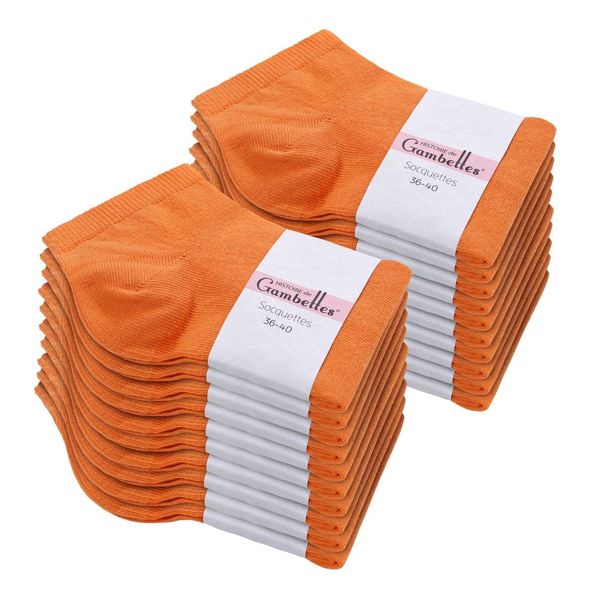 CH-00537_E12-1--_Soquettes-femme-coton-orange-20-paires