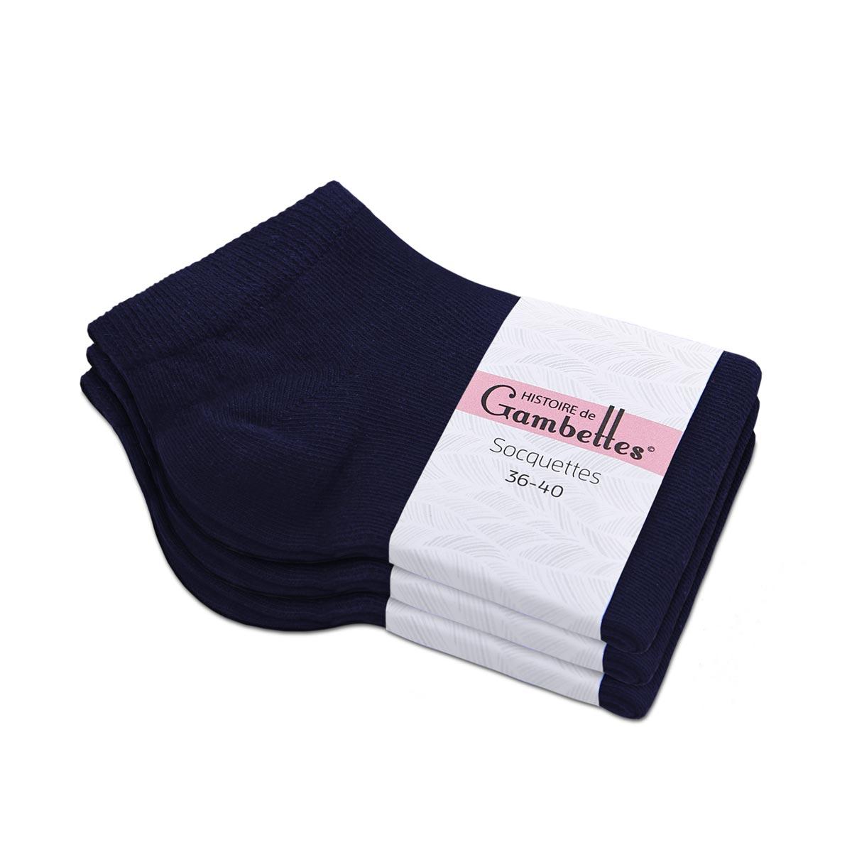CH-00516_E12-1--_Soquettes-femme-bleu-marine-3-paires