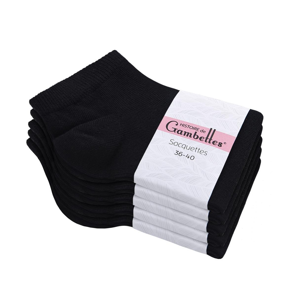 CH-00351_E12-1--_Soquettes-coton-femme-noir-5-paires