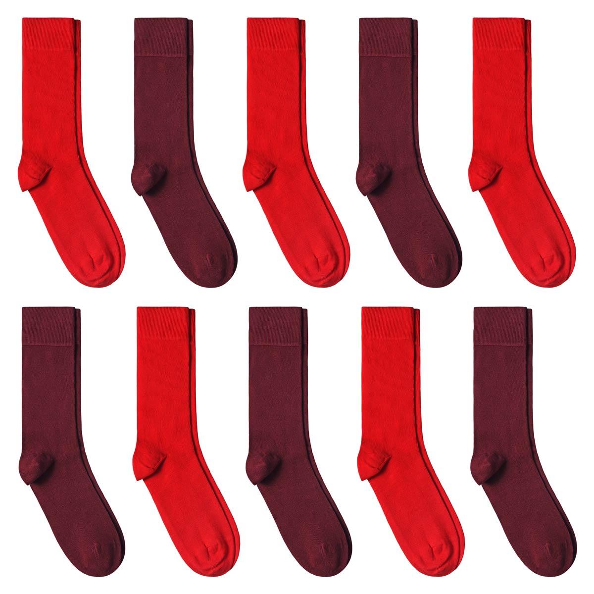 CH-00726_A12-1--_Lot-10-paires-de-chaussettes-homme-assorties-rouges-unies