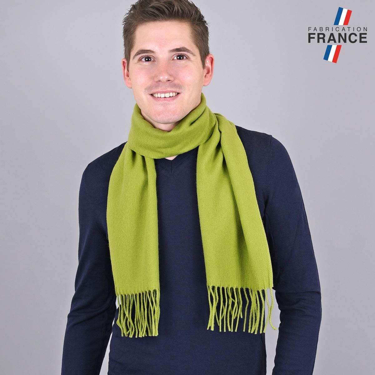 AT-05116_M12-1FR_Echarpe-homme-verte-franges-fabrication-france