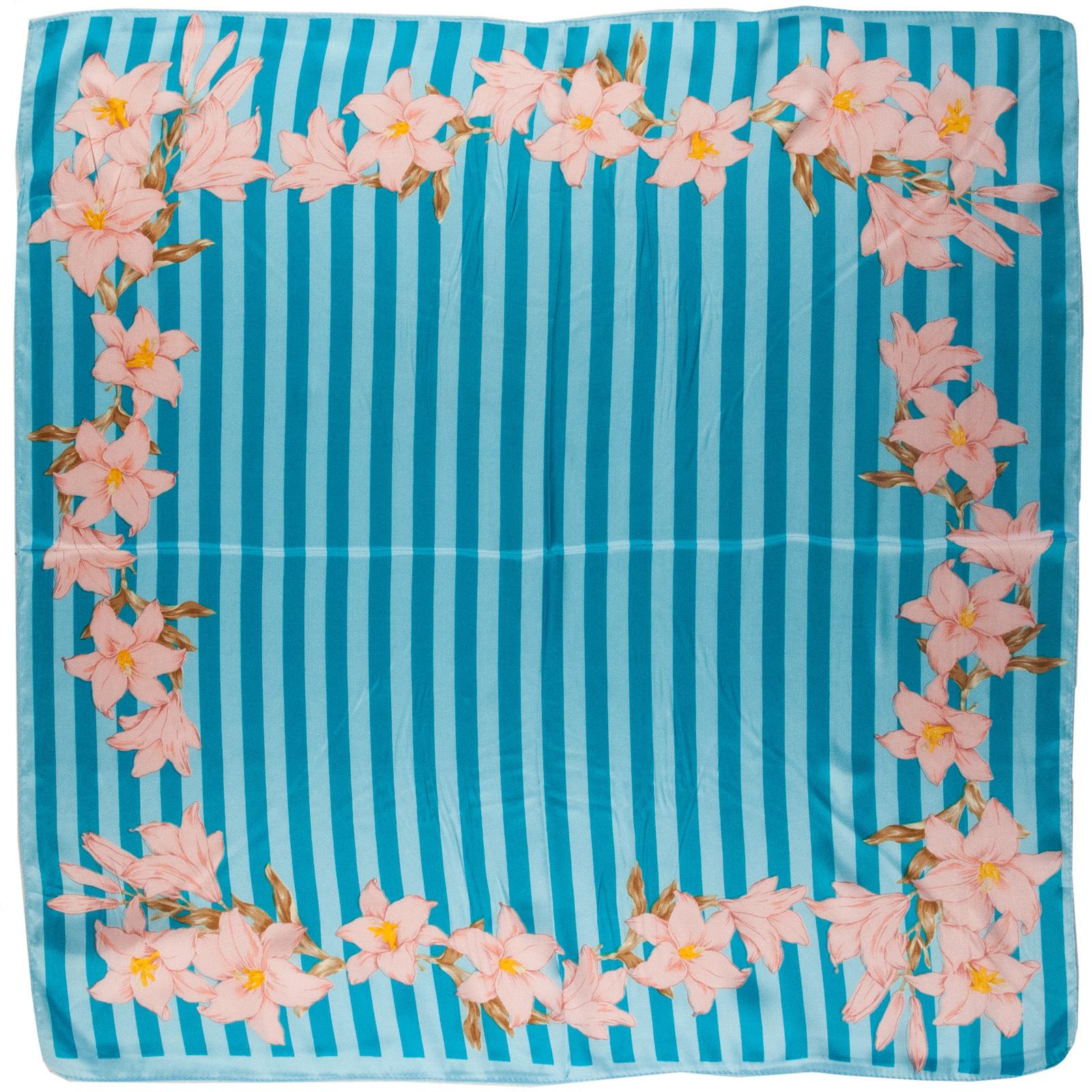 foulard-carré-fleurs-vanille-bleu-polysatin-AT-01692--A16