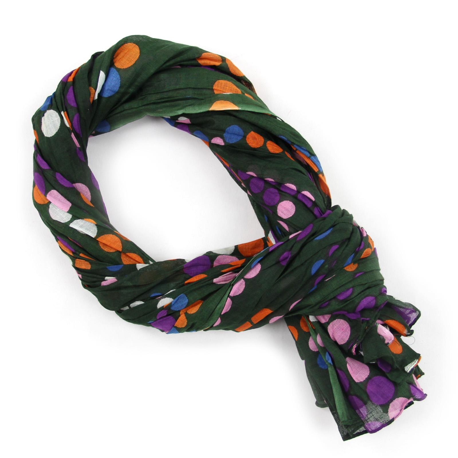 e8ae8f94490 foulard-cheche-coton-pois-vert-AT-02046--F16. Loading zoom