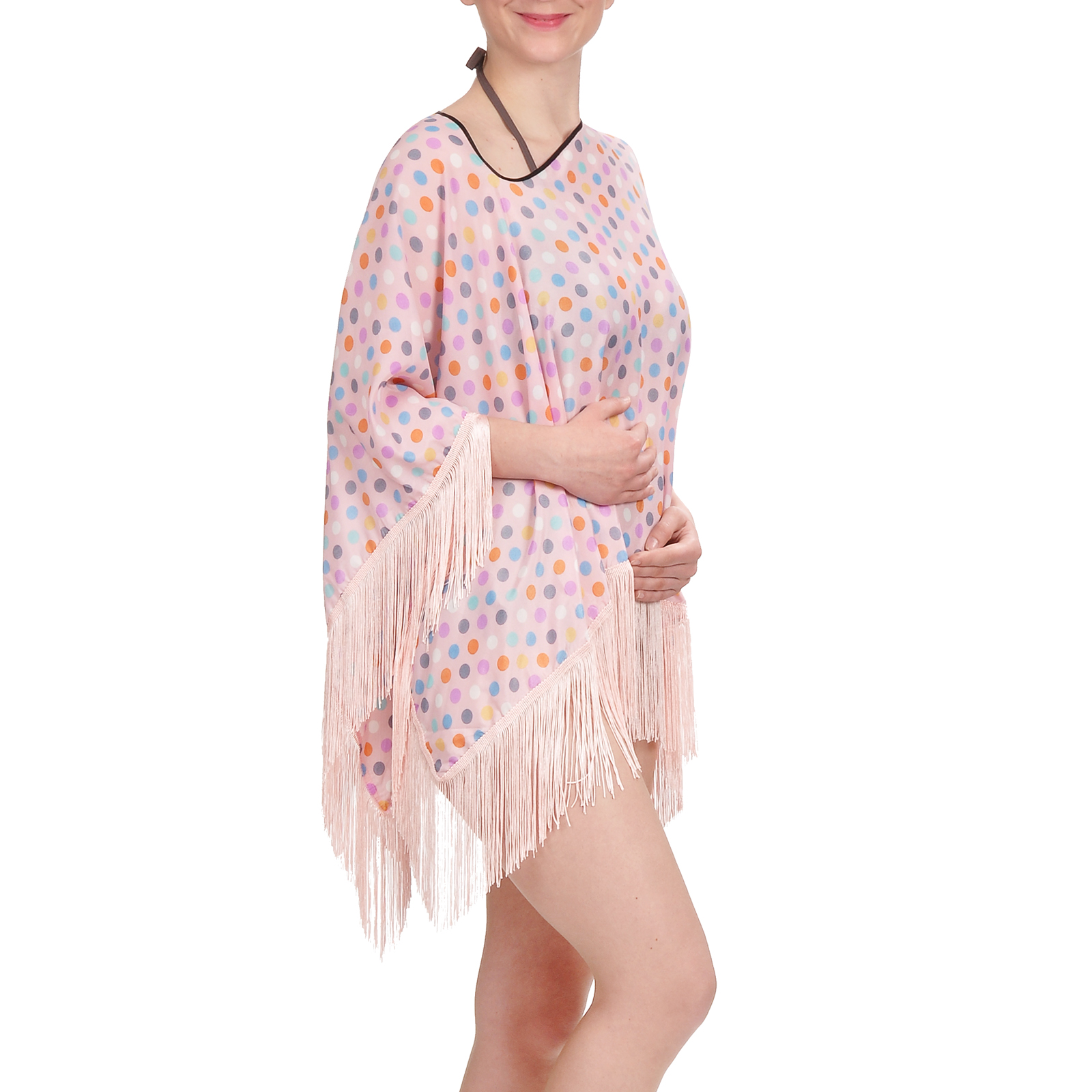tunique-plage-pancho-rose-pois-AT-02987-F16