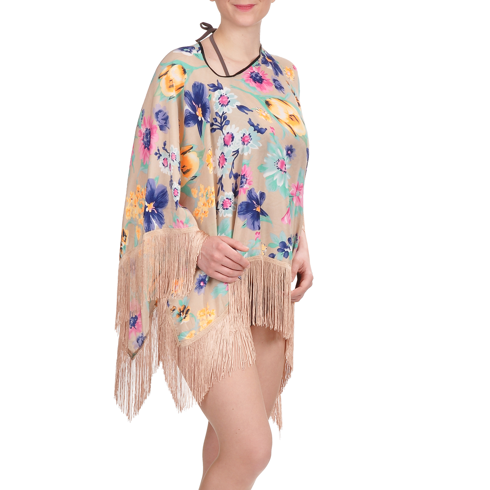 tunique-plage-pancho-taupe-fleurs-AT-03000-F16
