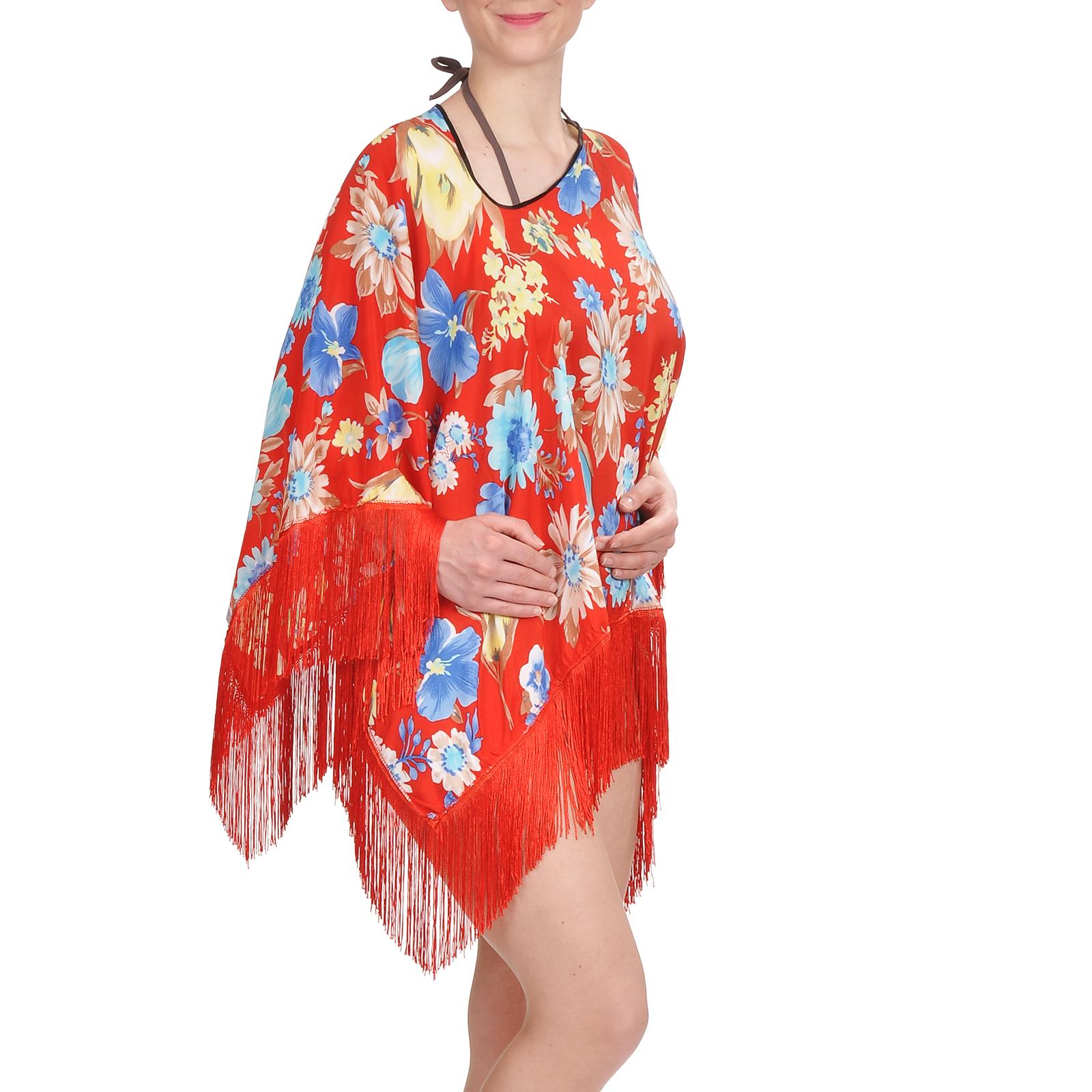 tunique-plage-pancho-rouge-fleurs-AT-02999-F16