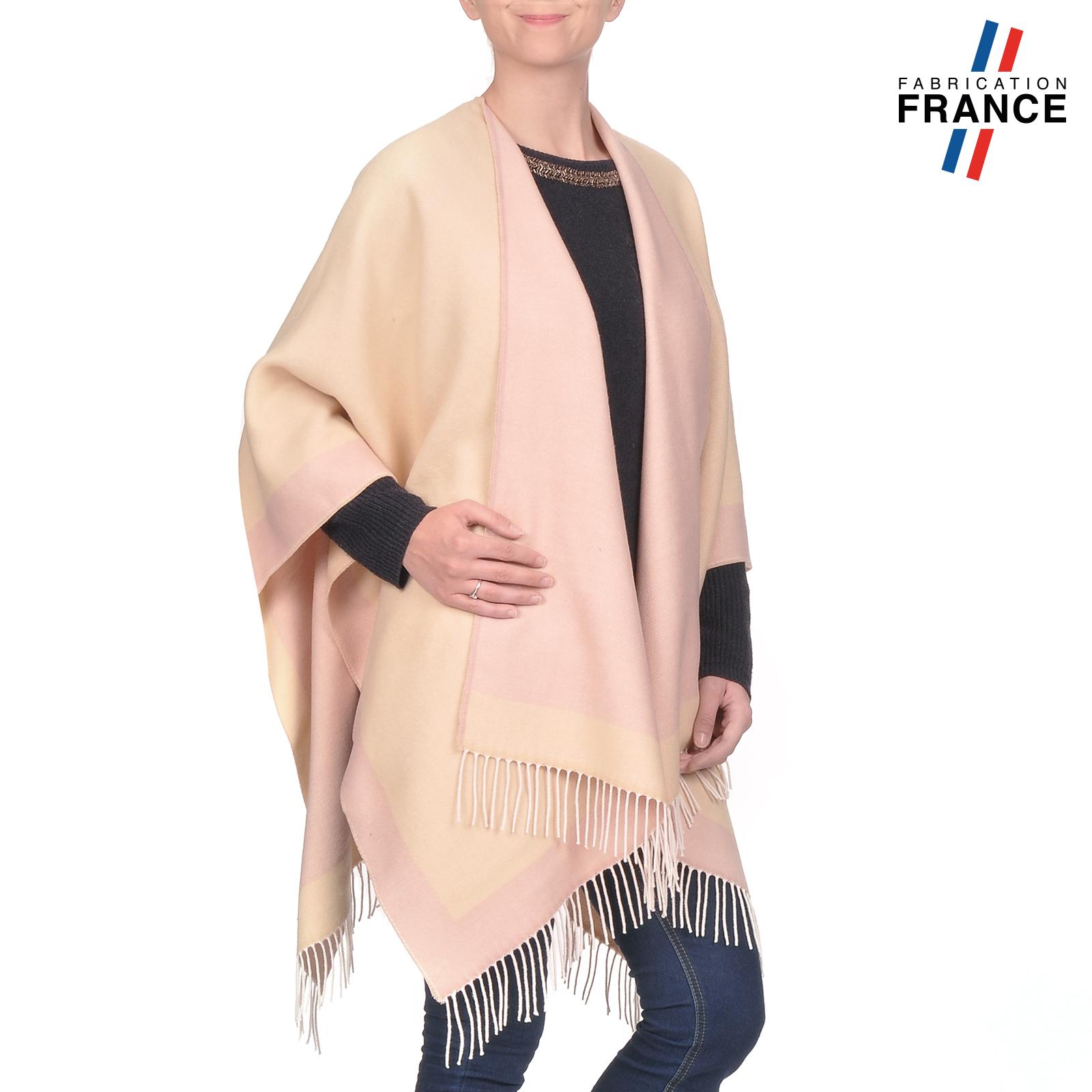 AT-03205-V16-poncho-a-franges-creme-rose-fabrication-france
