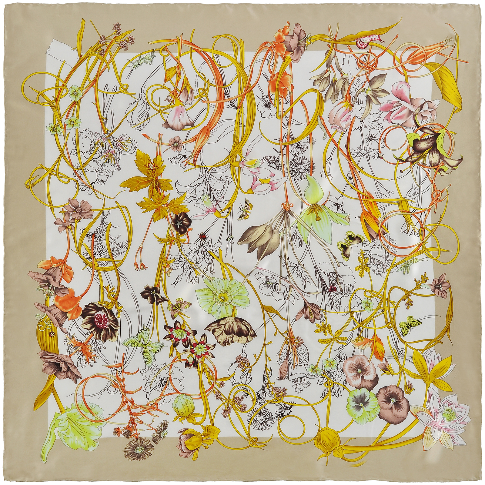 AT-03393-A16-carre-de-soie-labyrinthe-fleurs-beige