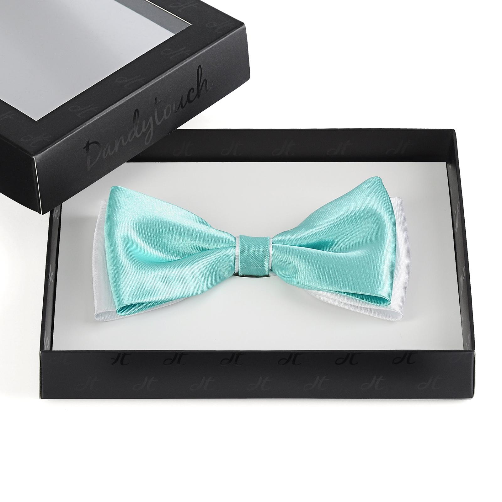 e326484a83d22 Noeud papillon turquoise et blanc - BeCool Dandytouch