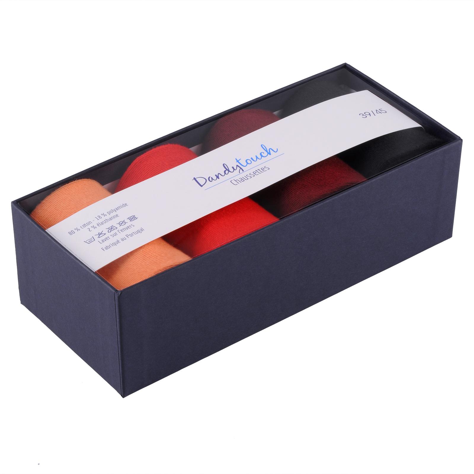 CH-00020-B16-Coffret-paires-chaussettes-homme-orange-rouge-noir