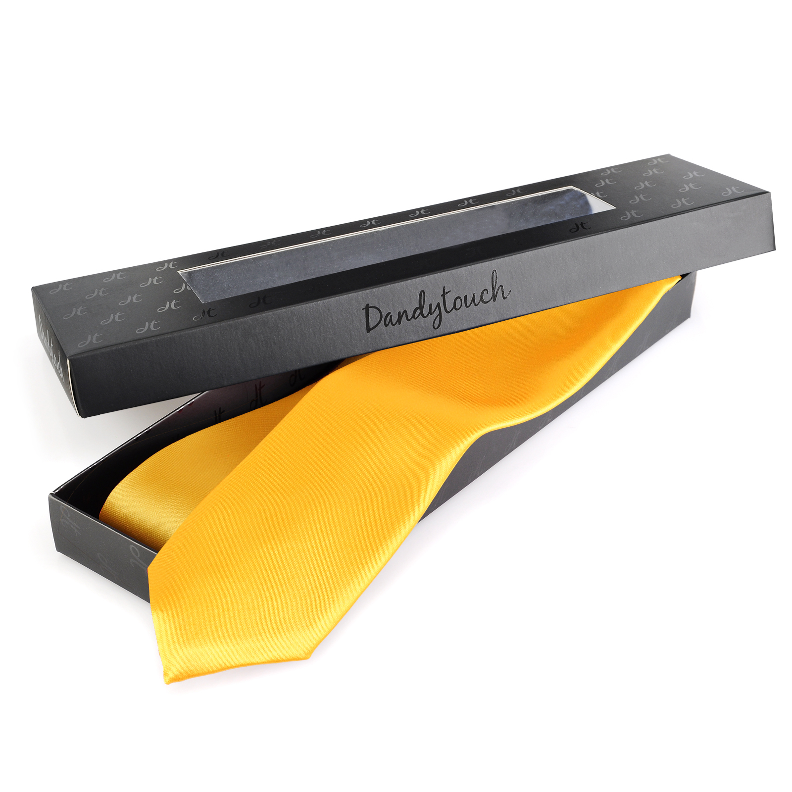cravate slim jaune dandytouch