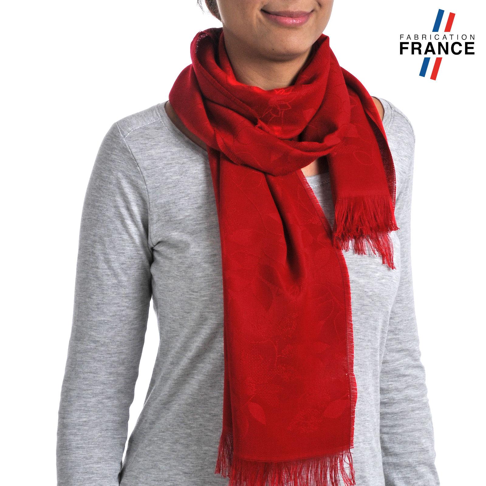 d34db55608f8 Echarpe femme fleurs ton sur ton - Fabriqué en France