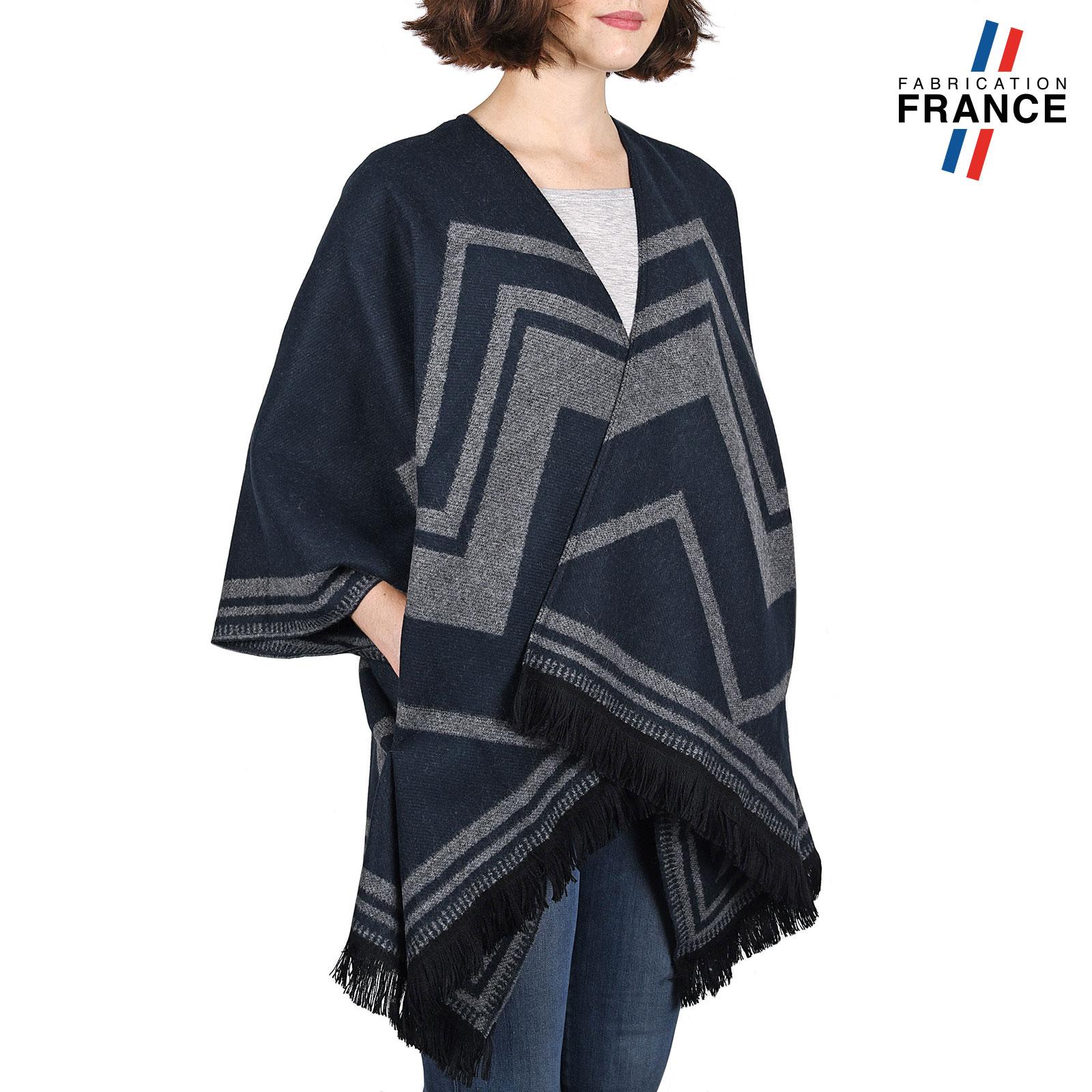 echarpe femme effet poncho foulard femme biface style couverture. Black Bedroom Furniture Sets. Home Design Ideas