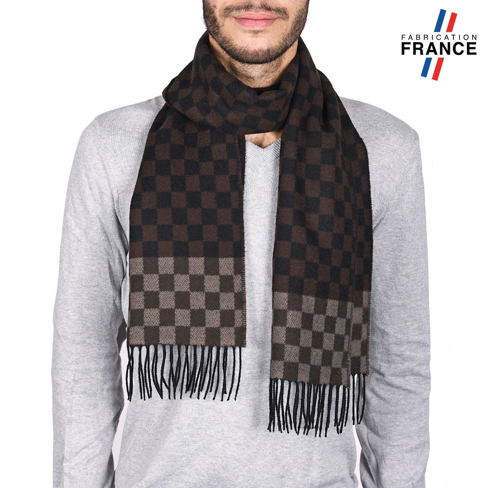 AT-03744-marron-noir-echarpe-homme-damier-brun-V16