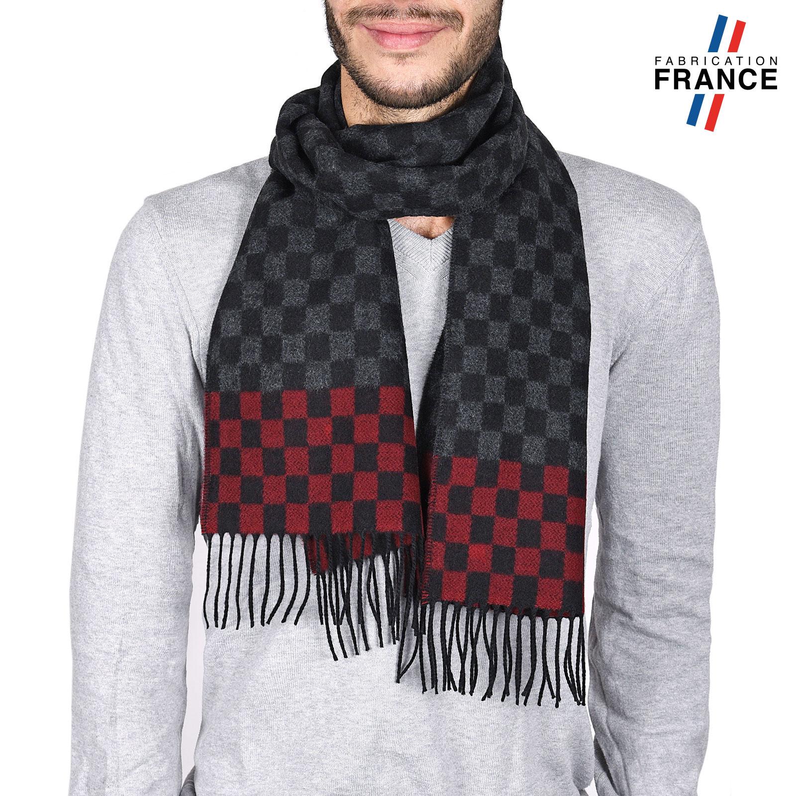 AT-03744-noire-rouge-echarpe-homme-a-damier-bordeaux-V16
