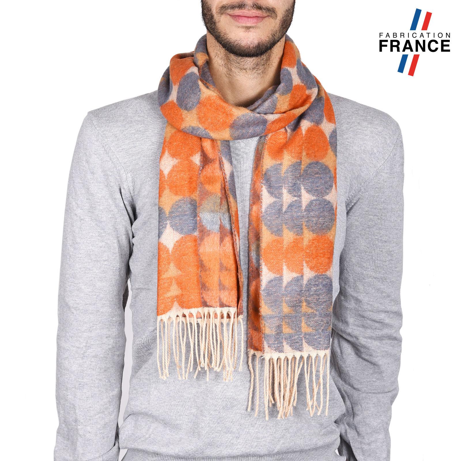 AT-03746-orange-echarpe-homme-a-pois-ocre-gris-V16