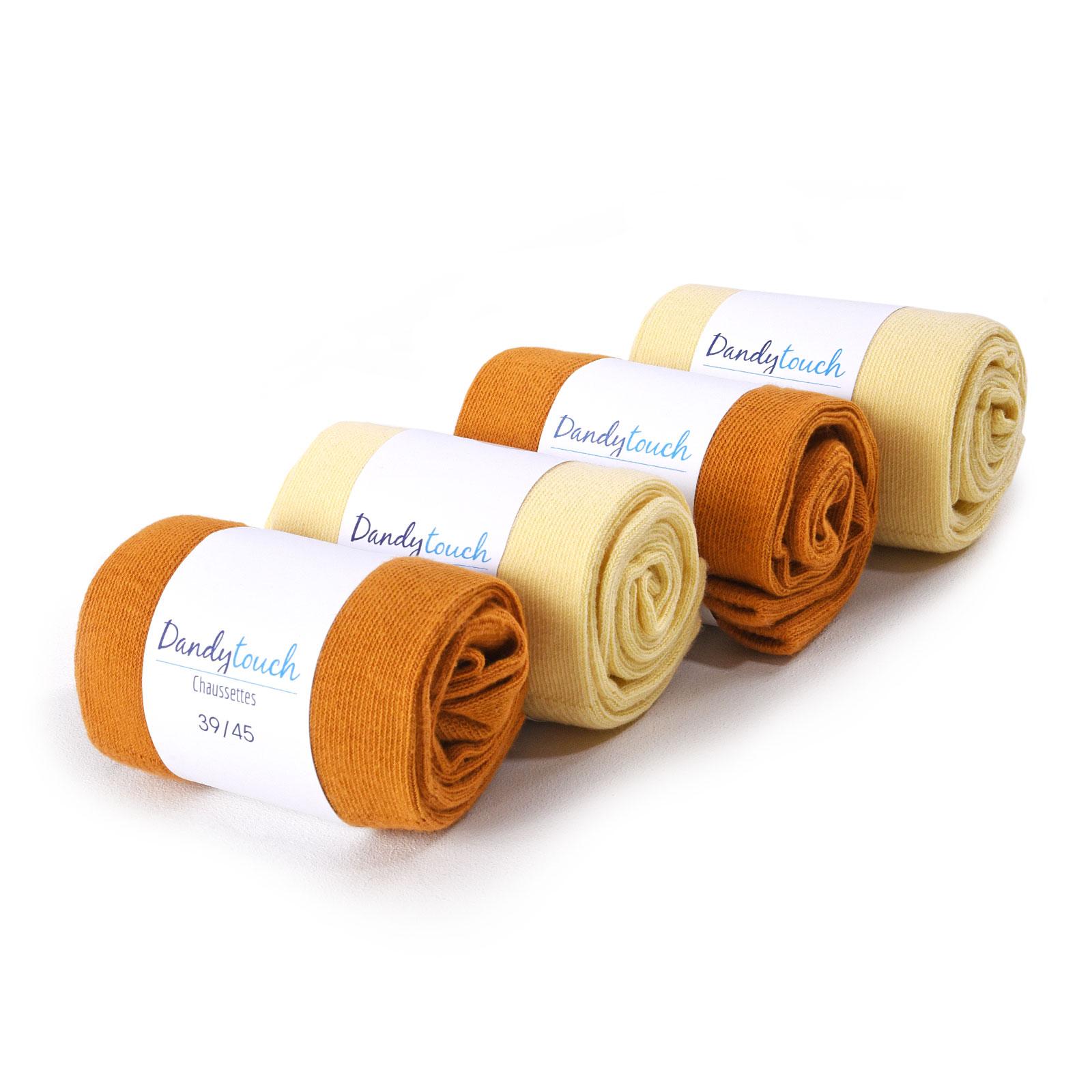 PK-00002-caramel-jaune-F16-lot-4-paires-chaussettes-ocres