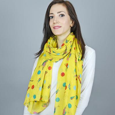 Chèche imprimé coton Gris pois rose. Allée du foulard - 13,50 €. Détails ·  Chèche pur coton Luccel bleu sur jaune 47dda807f3d