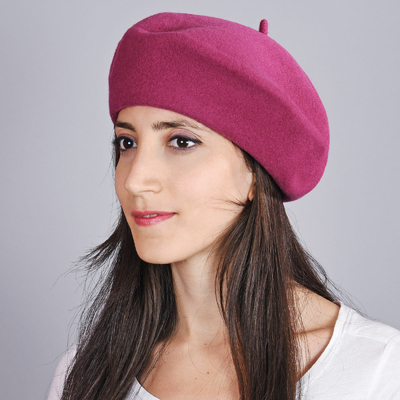 Béret femme Ardoise, feutre de laine - Fabrication Europe e72273da2c6