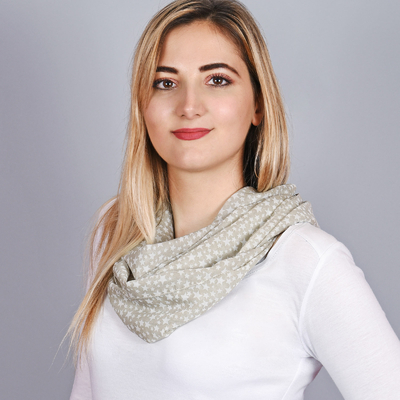 dd2be5d92f58 Foulard Snood Etoiles Taupe