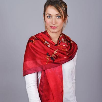 Etole soie Bourgeons Rouge 067eb9a096f