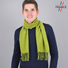 AT-03436-VH16-LB_FR-echarpe-homme-verte-franges-fabrication-france