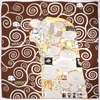 AT-02146-A10-carre-soie-epaisse-gustave-klimt-marron - Copie
