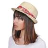 CP-01092-VF10-P-chapeau-paille-femme-galon-floral-rouge