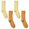 CH-00721-A10-P-lot-4-paires-de-chaussettes-homme-assorties-orange-jaune-unies
