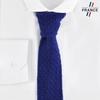 CV-00465_F12-2FR_Cravate-tricot-bleue-marine-fabrication-francaise