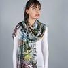 _Etole-soie-motifs-abstraits-gris-vert