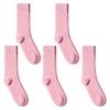 CH-00591_A12-1--_Lot-5-paires-de-chaussettes-homme-roses-pales-unies