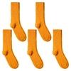 CH-00593_A12-1--_Lot-5-paires-de-chaussettes-homme-oranges-unies