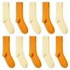 CH-00718_A12-1--_Lot-10-paires-de-chaussettes-homme-assorties-orange-jaune-unies