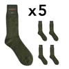 CH-00265-A16-chaussettes homme-laine-cachemire-kaki