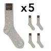 CH-00270-A16-chaussettes homme-laine-cachemire-gris-clair