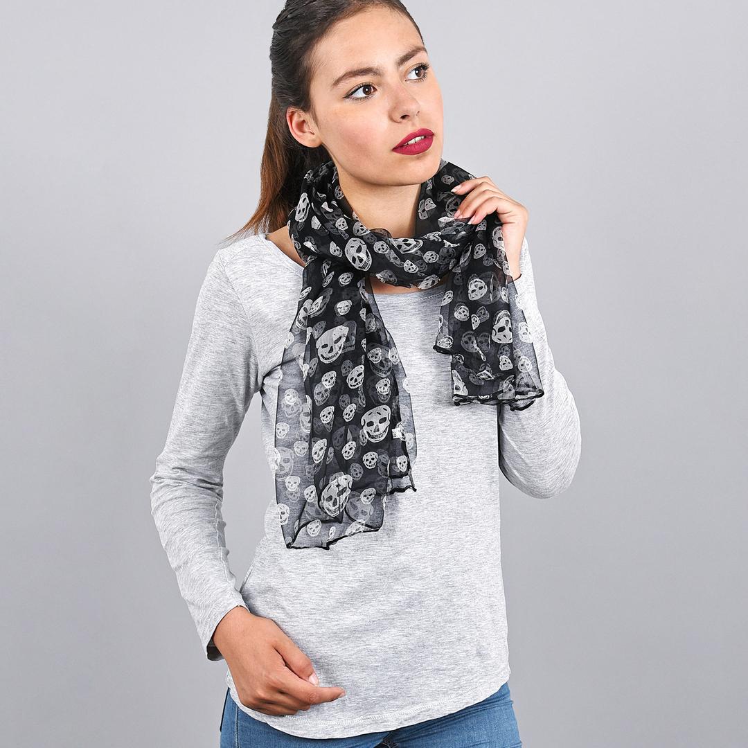 AT-03729-VF16-foulard-mousseline-noir-tetes-de-mort
