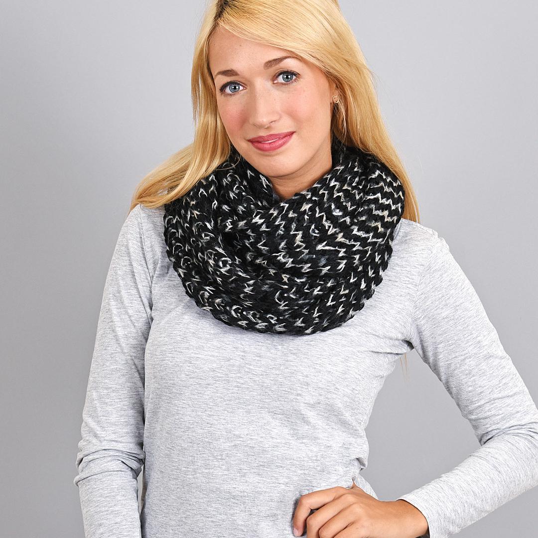 e44c6487c4c1 écharpe tube femme noir - Idée pour s habiller