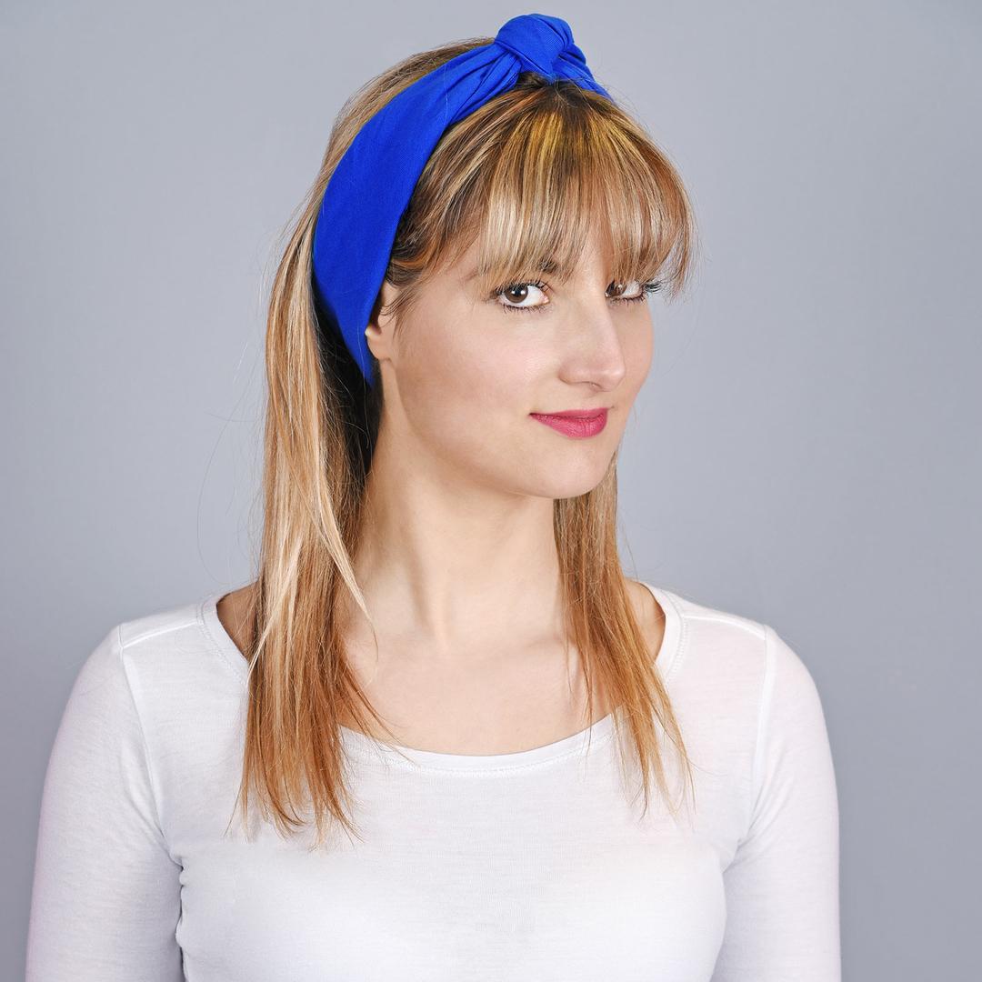 Bandana Bleu roi en coton - Fabriqué en Europe f41fcb5cbc2